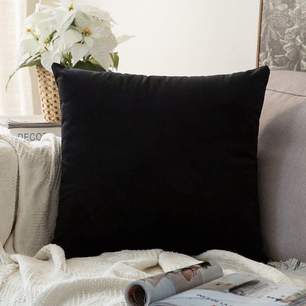 Single Throw Pillow Cover Velvet Cushion Case 24 X