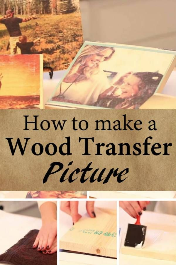 Diy Transfer Wood Pictures An Easy Way To Add An Antique Effect