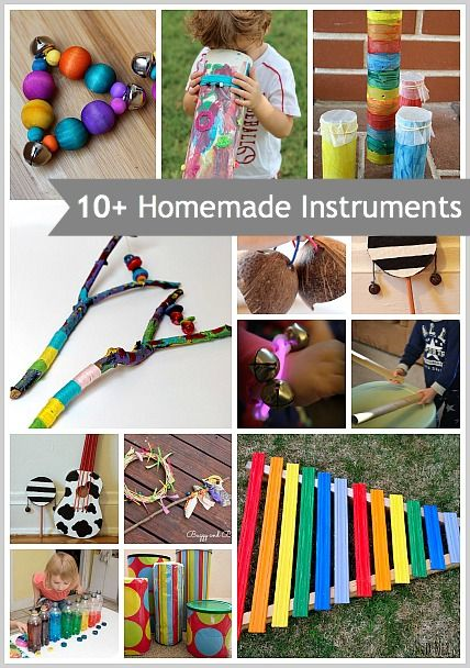 10 Homemade Musical Instruments For Kids Music Music Music