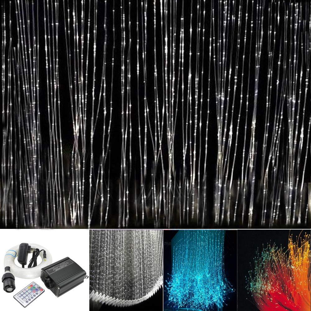 Huaxi 16w Rgbw Fiber Optic Sensory Lights Kit For Sensory Den Waterfall Curtain Light With Flash Point Fiber Opt Sensory Lights Waterfall Lights Curtain Lights