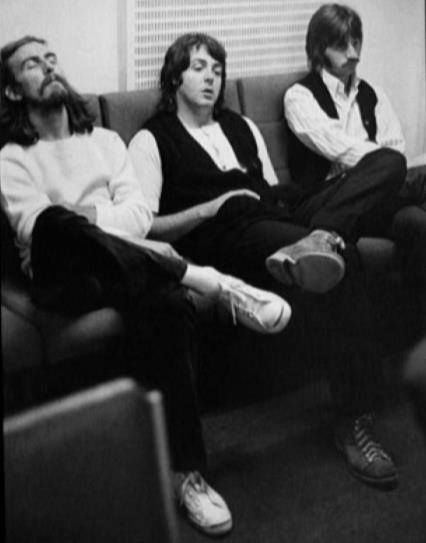 1969 - George Harrison, Paul McCartney and Ringo Starr, sessios for Abbey Road album.