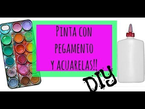 Pinta Con Pegamento Y Acuarelas Zentangle Art Dani Hoyos Acuarela Pintura Con Pegamento Tecnicas De Acuarela