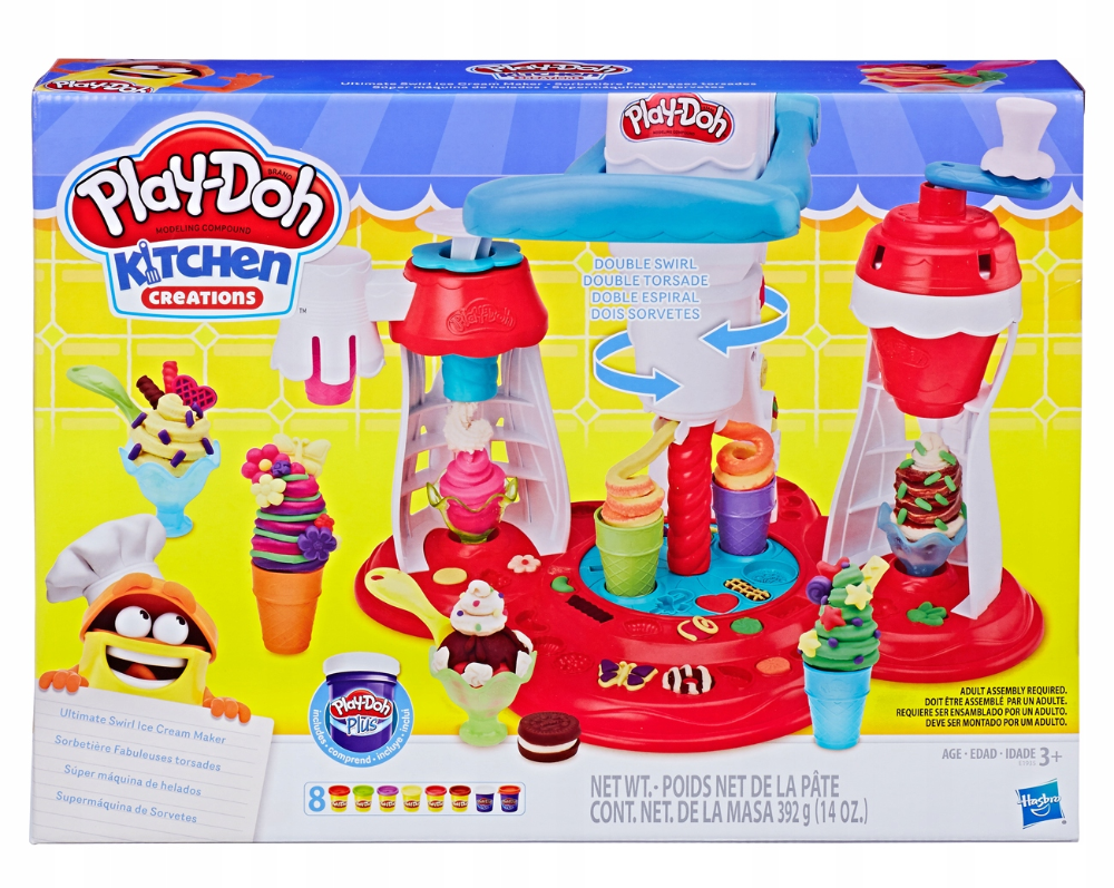 Play Doh Ciastolina Zakrecona Lodziarnia E1935 New 7588439982 Oficjalne Archiwum Allegro Play Doh Play Doh Ice Cream Play Doh Plus