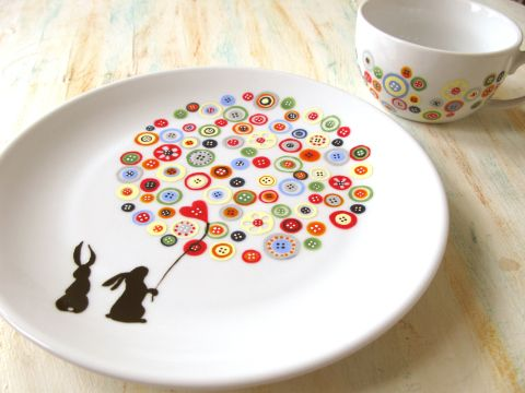 buttons and rabbits plate3