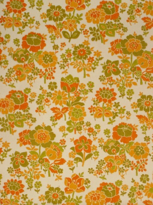 Original retro wallpaper vinyl wallcovering from the sixties seve - Papier peint sixties ...