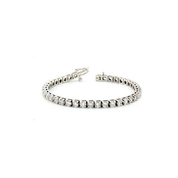 1 Carat Diamond Tennis Bracelet 14k White Gold 1 625 Liked On Polyvore Featuring Jewelry Bracelets White Gold Jewellery T White Gold Jewelry Gold Bangles Diamond Jewelry