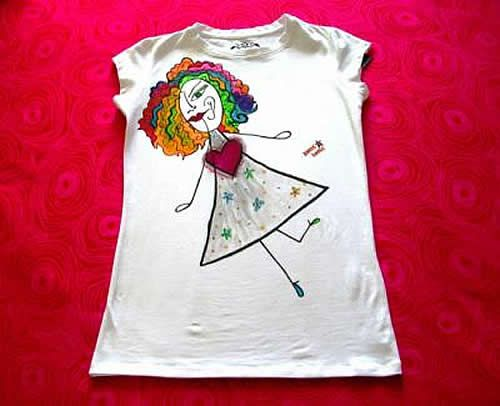 Manualidades camiseta pintada a mano camisitas pintura - Pintura para camisetas ...