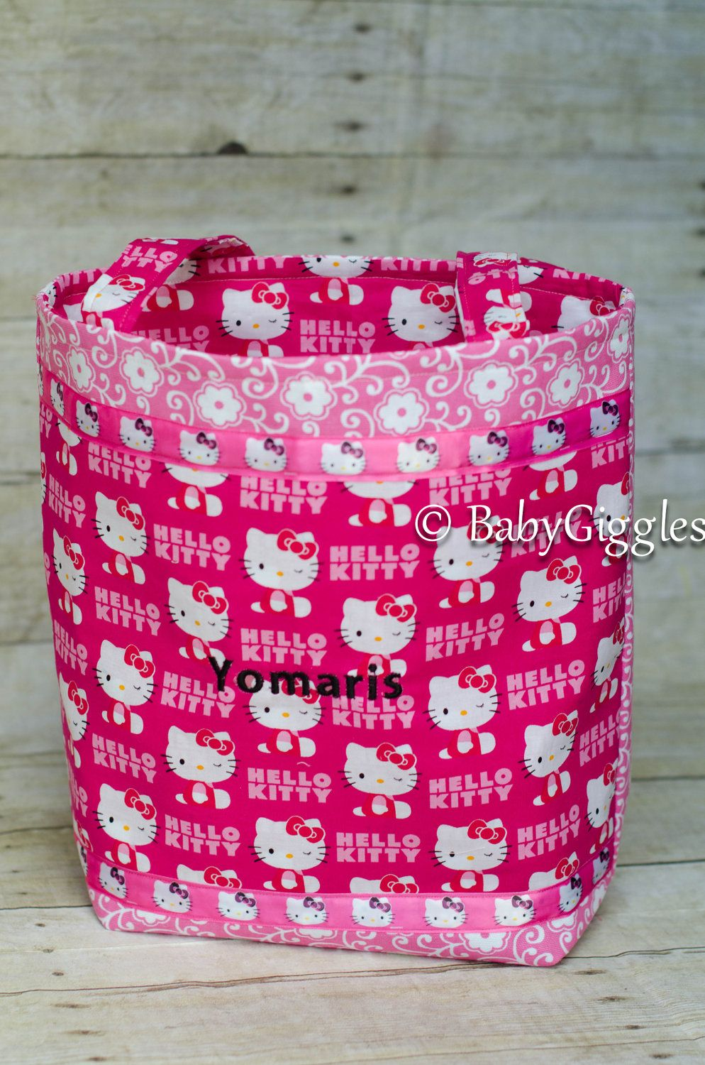 090556e60b Hello kitty diaper bag or tote bag by BabyGigglesCreations on Etsy ...