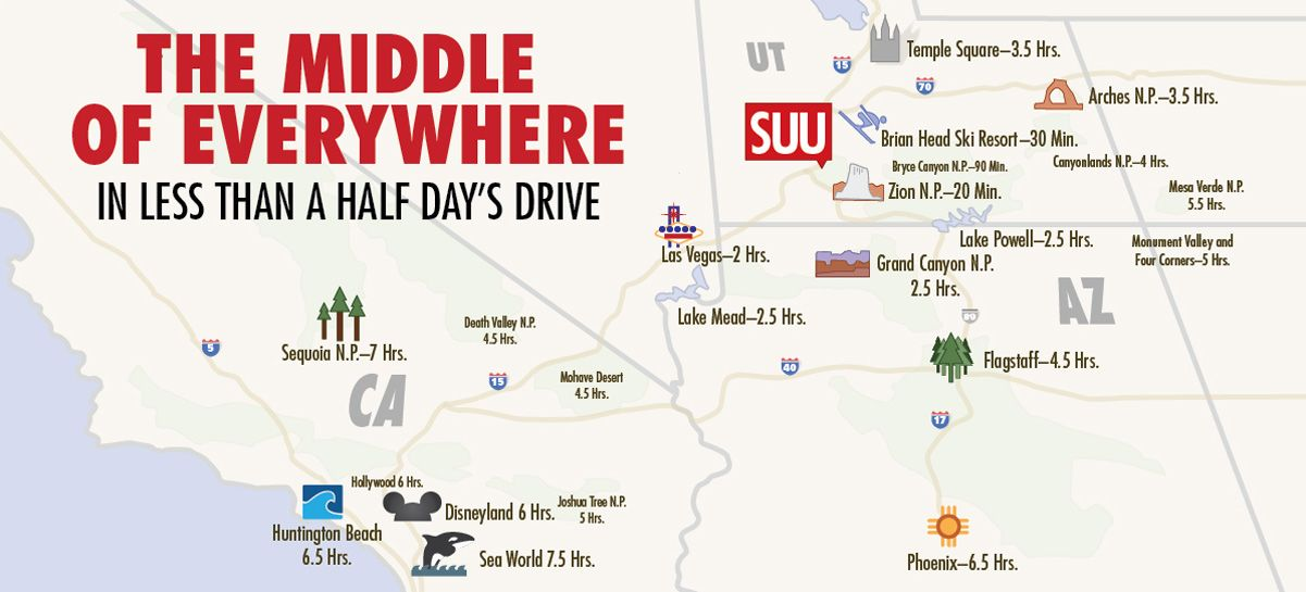 southern utah university campus map Cedar City Ut Campus Activities University Of Utah College Life