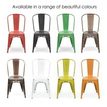 Xavier Pauchard Yellow Vintage Tolix Style Side Chair