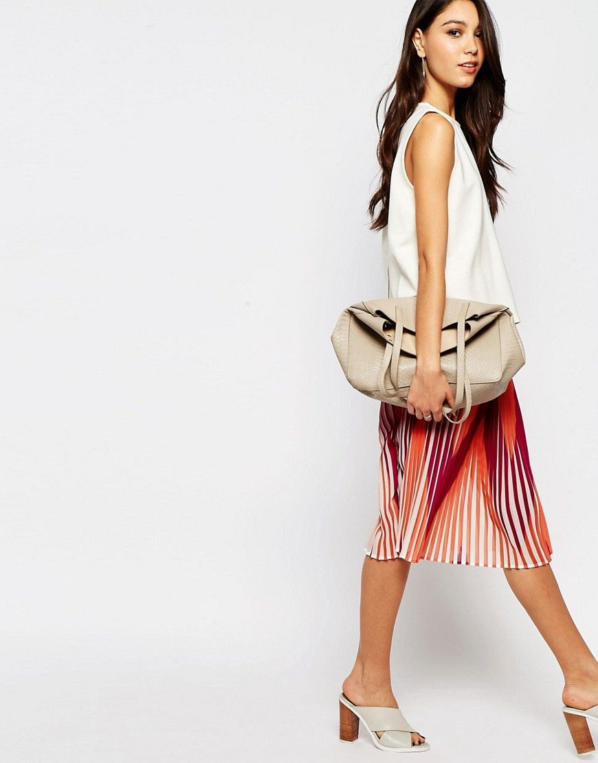 4e383cce3 Sisley Midi Pleated Skirt in Multicolour   Clothes   Pleated midi ...