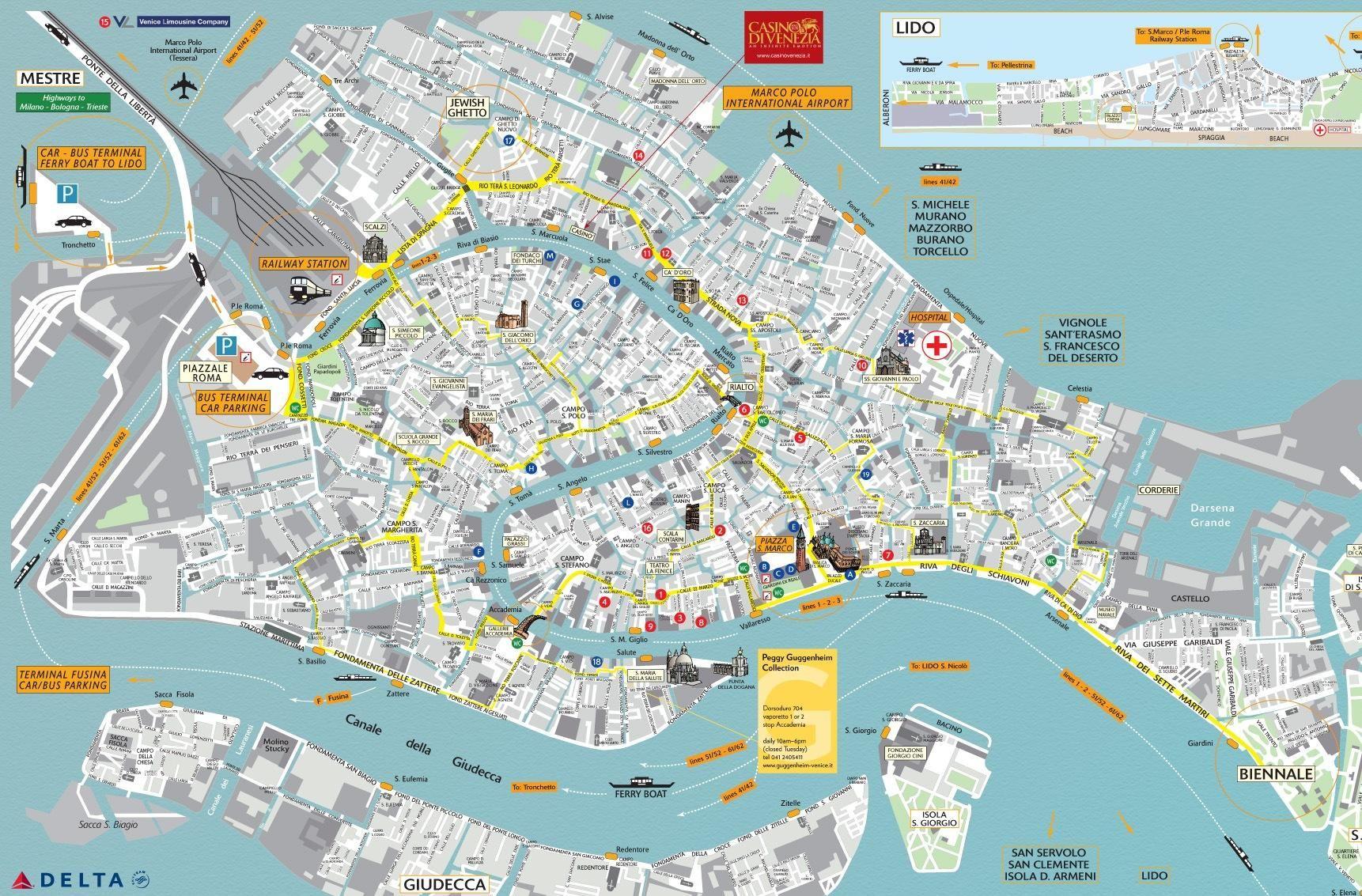 Map of Venice travel Pinterest Venice italy Tuscany and Italy