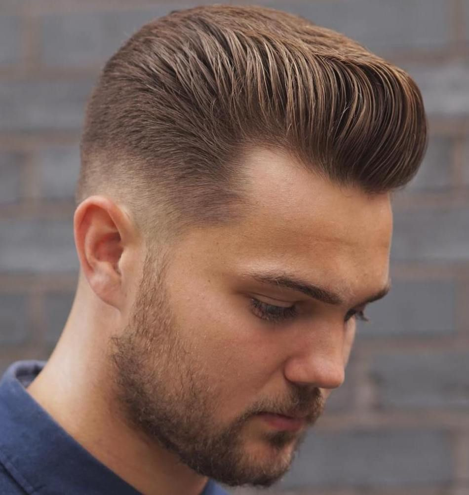 Taper fade with flat pompadour hairstyle ideas pinterest taper