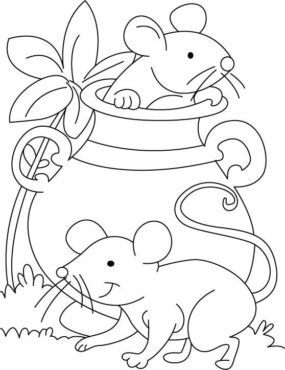 Printable Mouse Coloring Page | omalovánky | Pinterest | Mice and ...