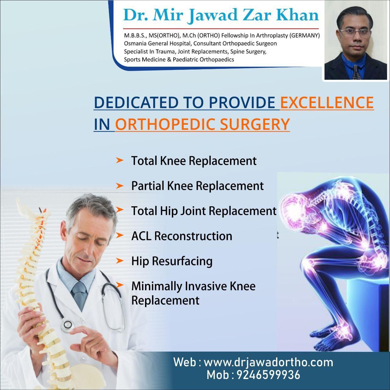 Homepage | Best Orthopaedic Surgeon Dr Mir Jawad Zar Khan