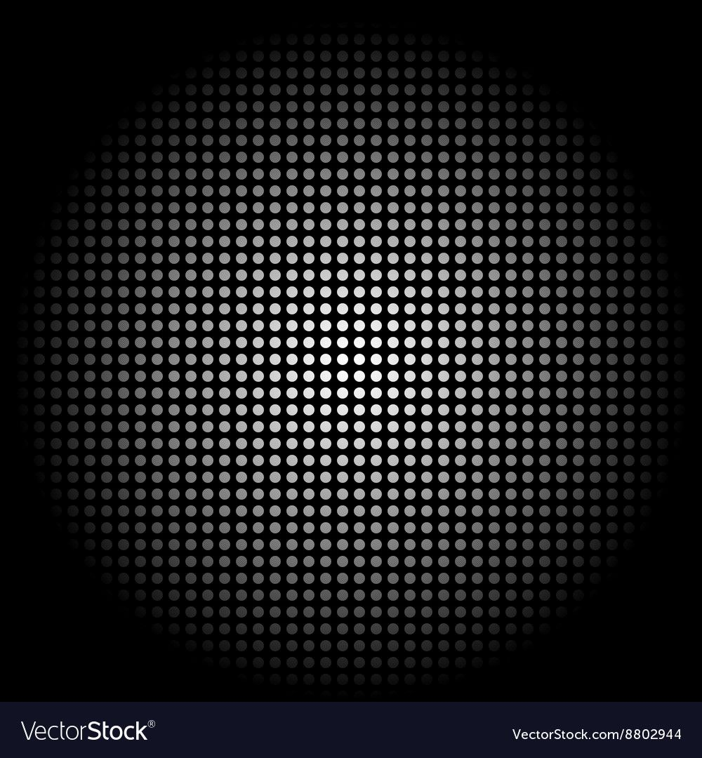 White circle sphere on black background vector image on