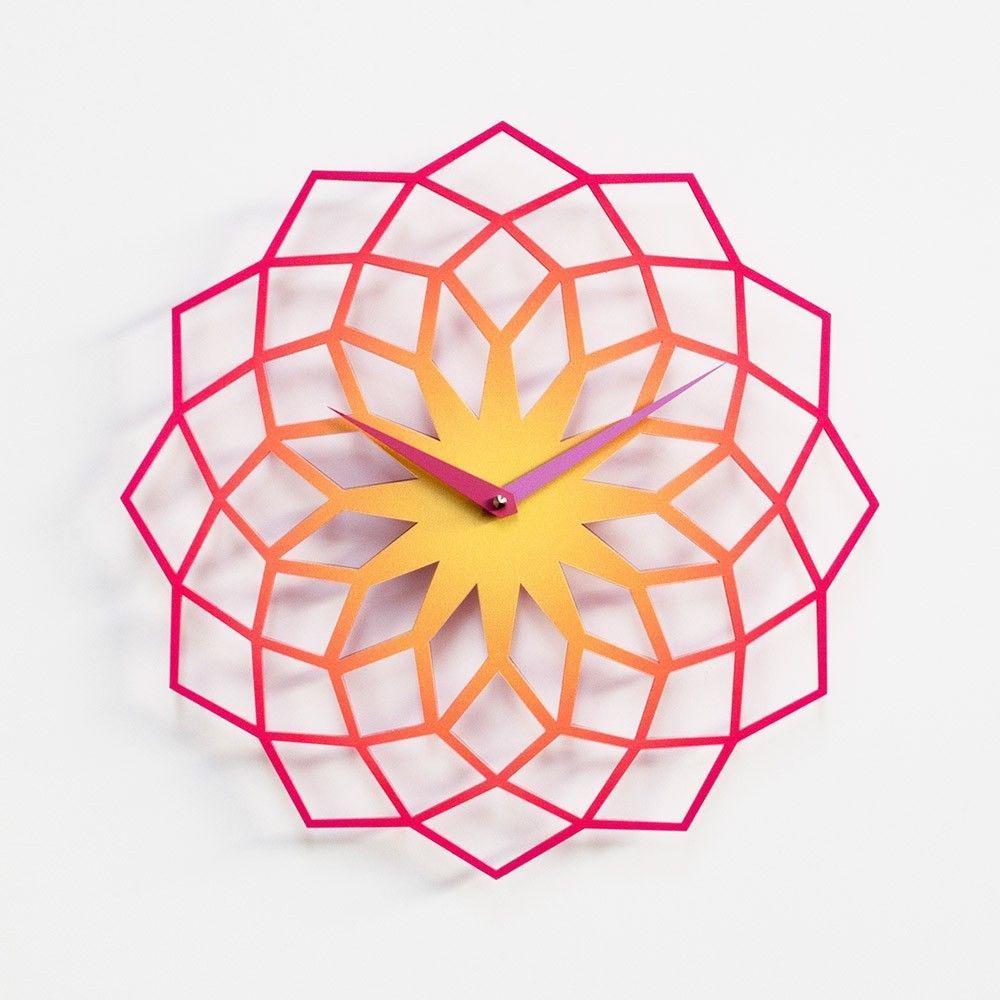 relojes decorativos relojes de pared reloj pared lser de corte oficina hogar relojes paredes de color naranja karim rashid