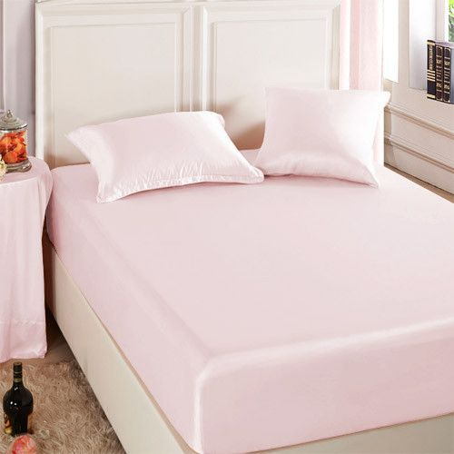 Charmant Light Pink Silk Fitted Sheet Has A Heavy Weight Of 22 Momme, And Creates An  Unparalleled Sense Of Luxury And Comfort Next To The Skin. Machine Washu2026