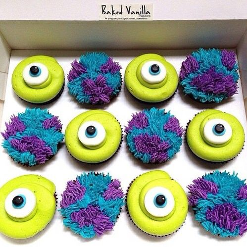 Monsters inc cupcakes!!