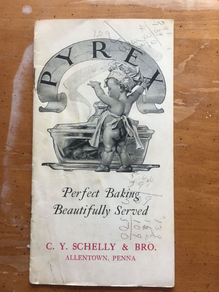1920's Clear Pyrex Sales Brochure Baby On Cover, C.Y