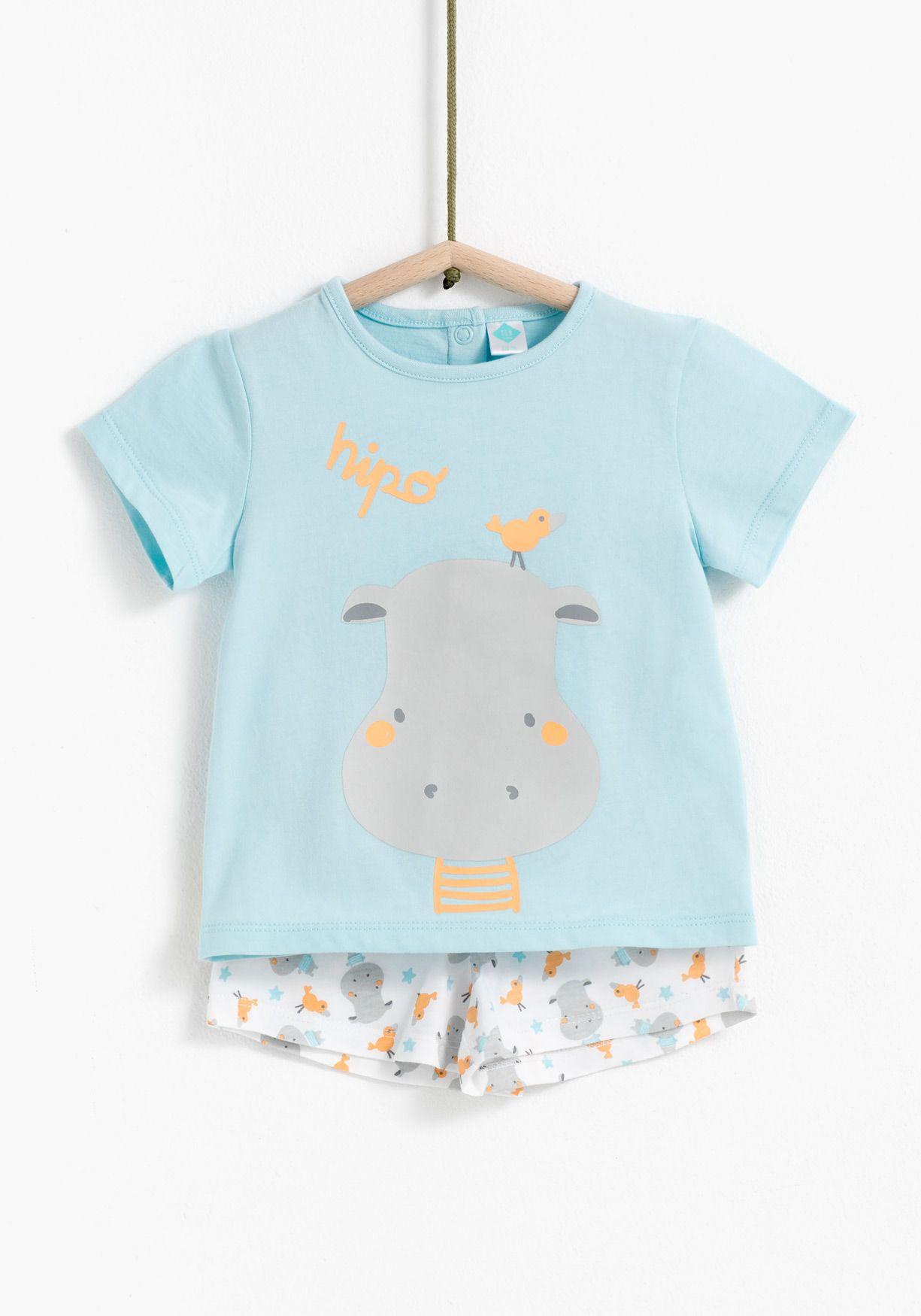 a13baa3de Pijama de dos piezas estampado TEX