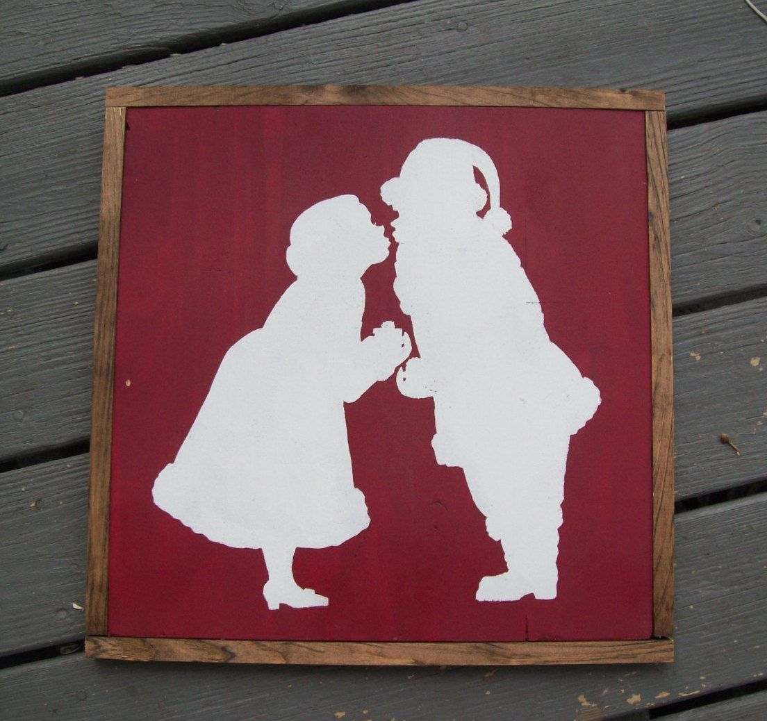 "Best Mr And Mrs Questions: Handpainted ""Mr & Mrs Santa Claus"" Silhouette Sign By"