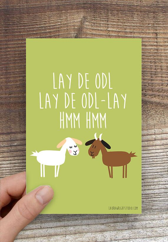 Greeting Cards Single Sound Of Music Goat Illustration