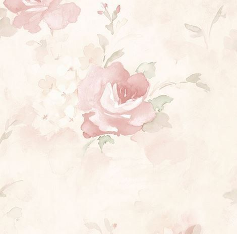 Soft Watercolor Floral Wallpaper Antique By Wallpaperyourworld