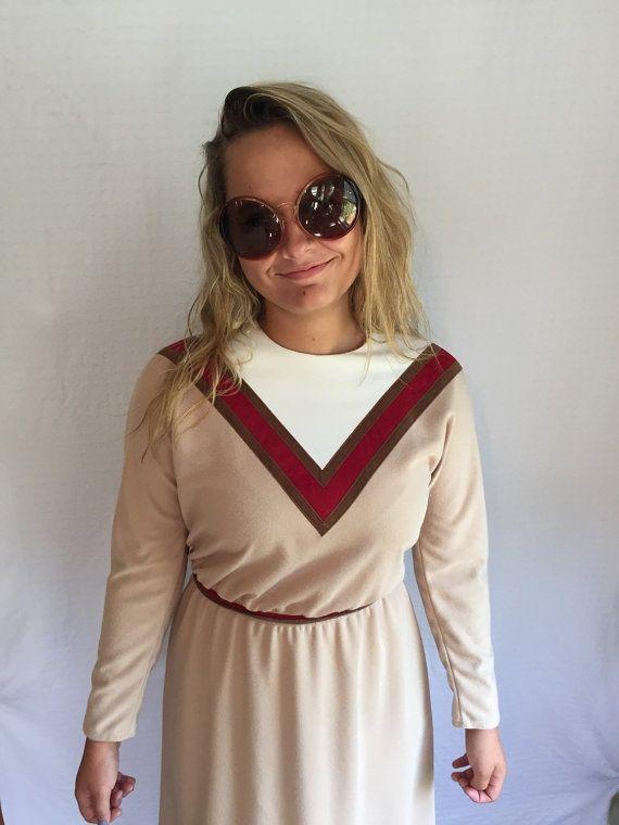 Vintage 1970s dress  Leslie Faye dress  by GypsysClosetVintage