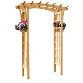 Garden Treasures 64 in W x 8625 in H Stain Natural Pergola Style