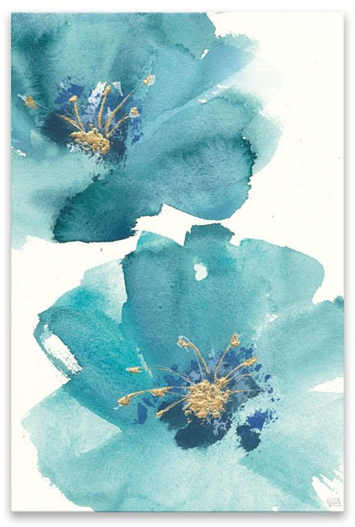 Artissimo Designs Teal Cosmos Iii Hand Embellished Canvas & Reviews - All Wall Décor - Home Decor - Macy's