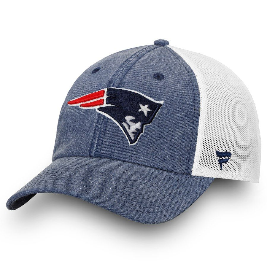 Men S New England Patriots Nfl Pro Line By Fanatics Branded Navy White Timeless Fundamental Adjustable Trucker Hat With Images Nfl Pro Line New England Patriots Patriots