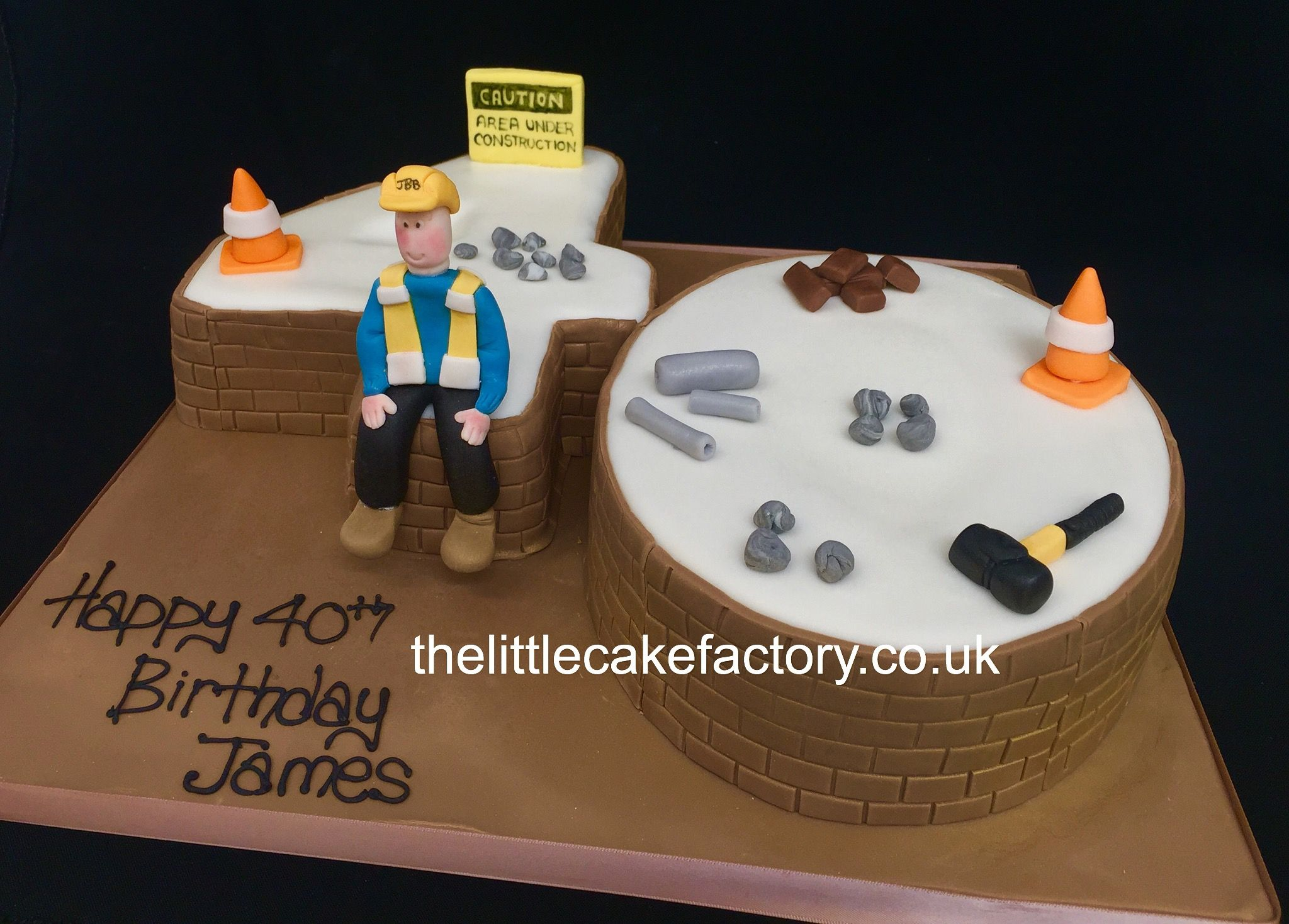 Builders Number 40 Cake Number Cakes Pinterest 40th Cake