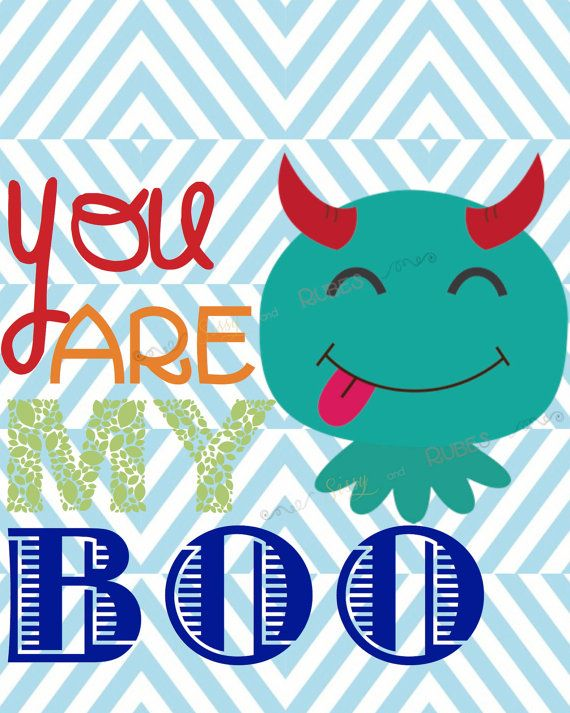 3 Adorable Monster Art Prints 8x10 size for by SissyandRubes