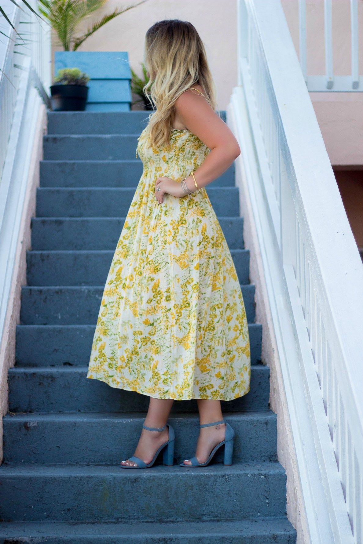 Yellow Summer Midi Dress Under 100 Midi Dress Summer Dresses Midi Dress [ 1782 x 1188 Pixel ]