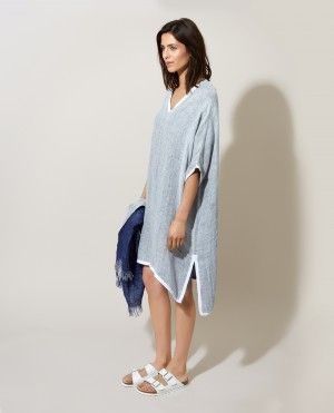Double Linen V-Neck Tunic at 19 Beauchamp Place, Knightsbridge London until 10th December