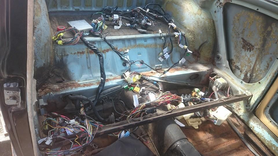 Well that\'s a chunk of Subaru wiring loom sat in the car, most of ...
