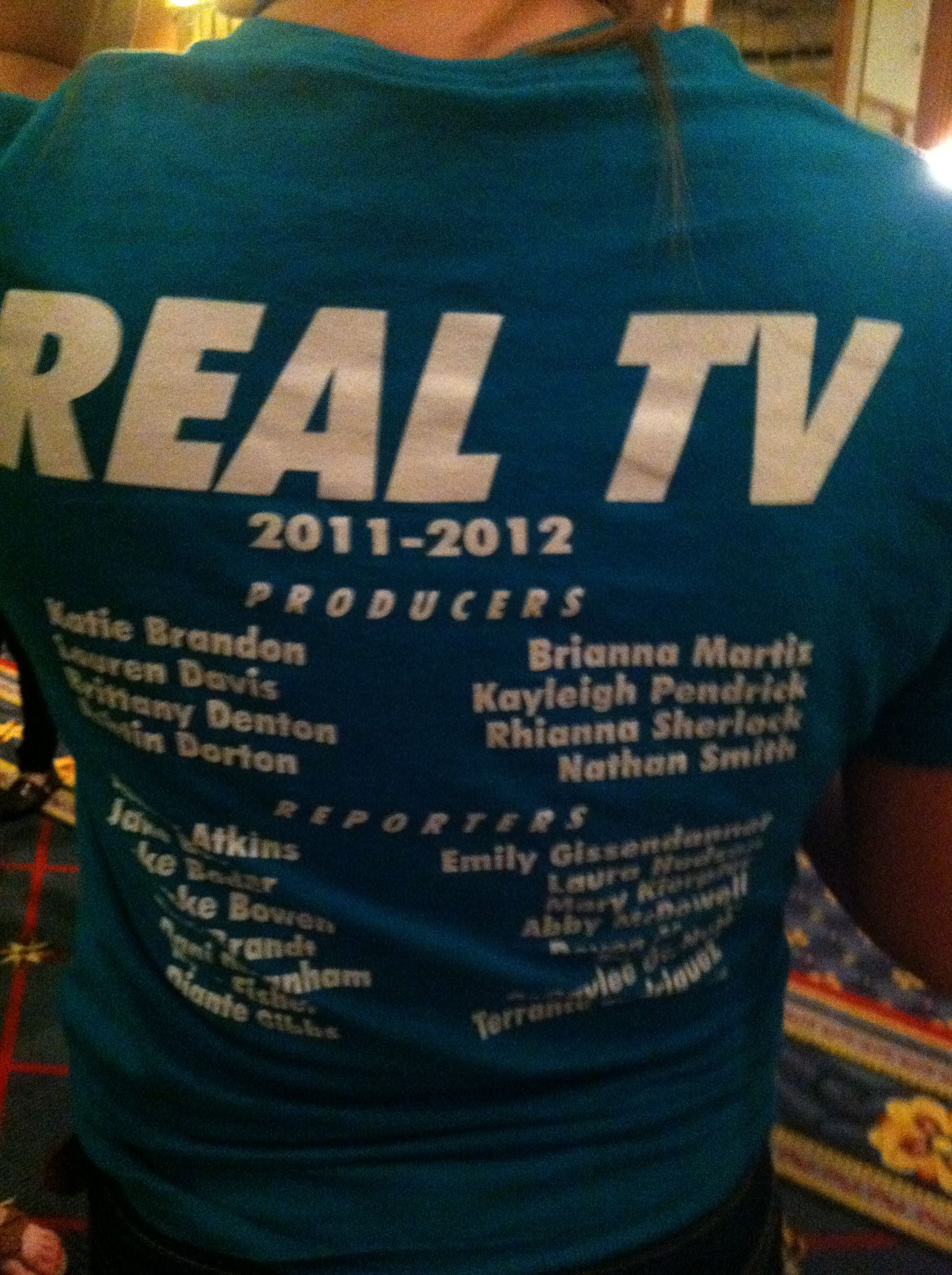 The back of a T-shirt spotted at the Southern Interscholastic Press Association's Courage To Connect Convention March 2, 2012.