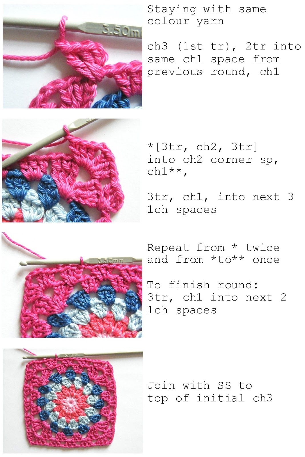 Annie\'s Place: Happy Flower Block Tutorial | Haken en breien ...