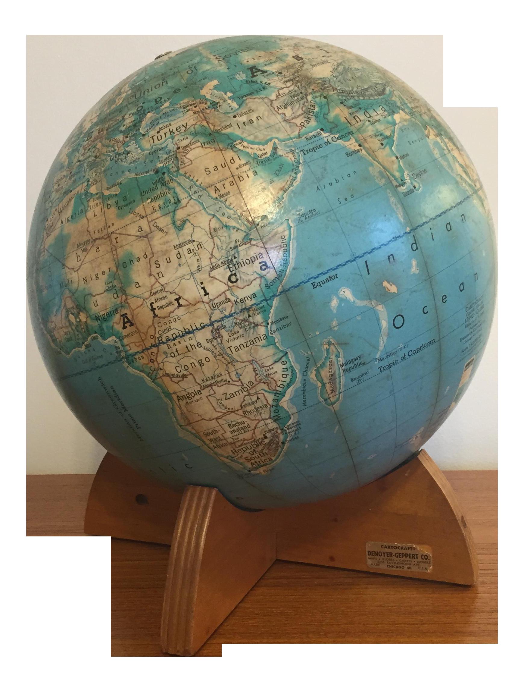 Mid Century Modern Cartocraft Globe On Chairish Com Globe Mid Century Modern Mid Century