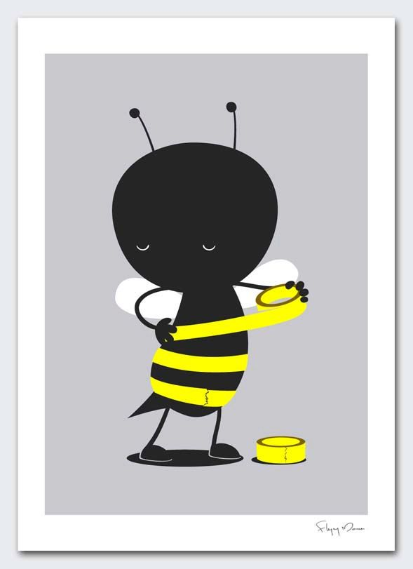 Some days I feel like this.    Wrap And Stripes by flyingmouse365 on Etsy.