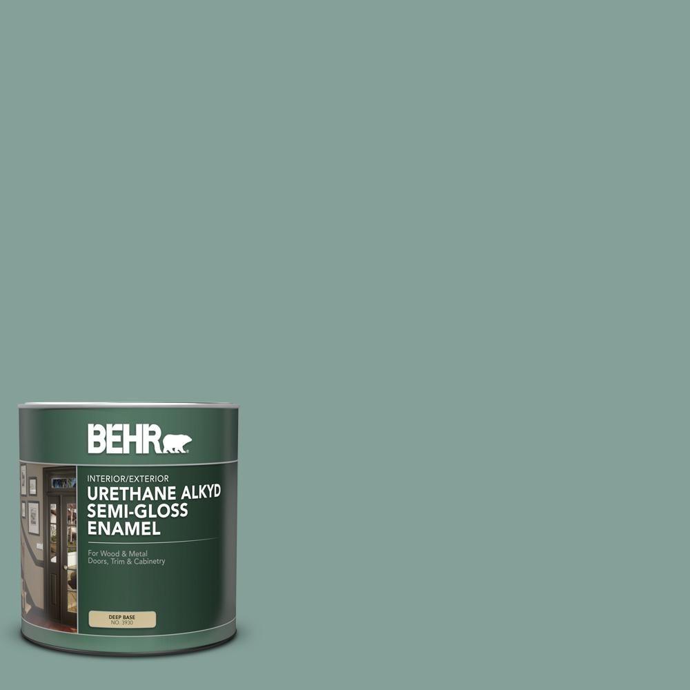 Behr 1 Qt 480f 4 Mermaid Net Semi Gloss Enamel Urethane Alkyd Interior Exterior Paint Exterior Paint Interior Paint Behr