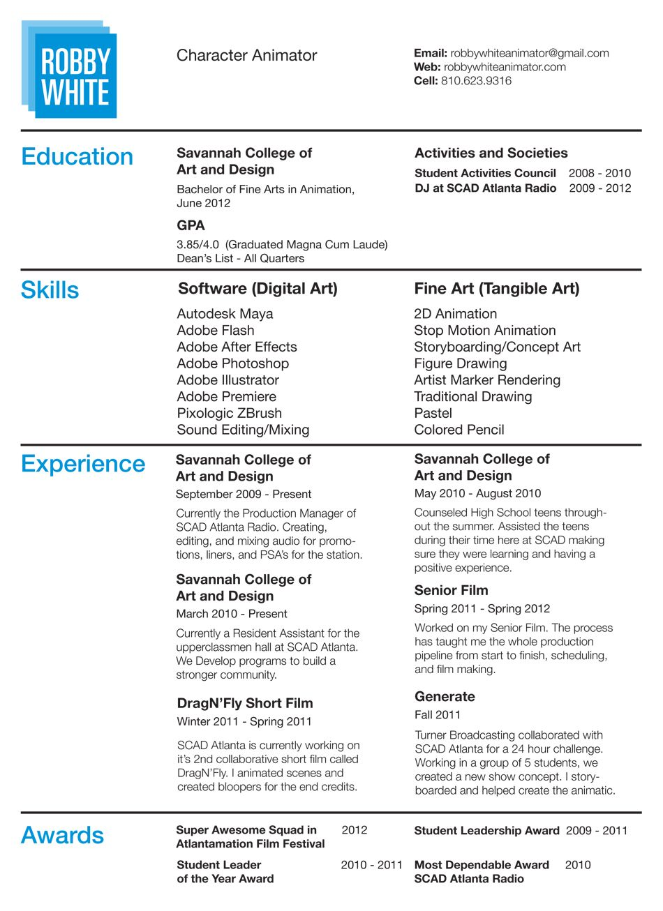pin by emily on computer animation resume samples