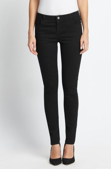 ORSAY JEANS   Black skinny jeans with lace details #mywork #fashiondesigner