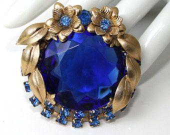 Vintage Blue Rhinestone