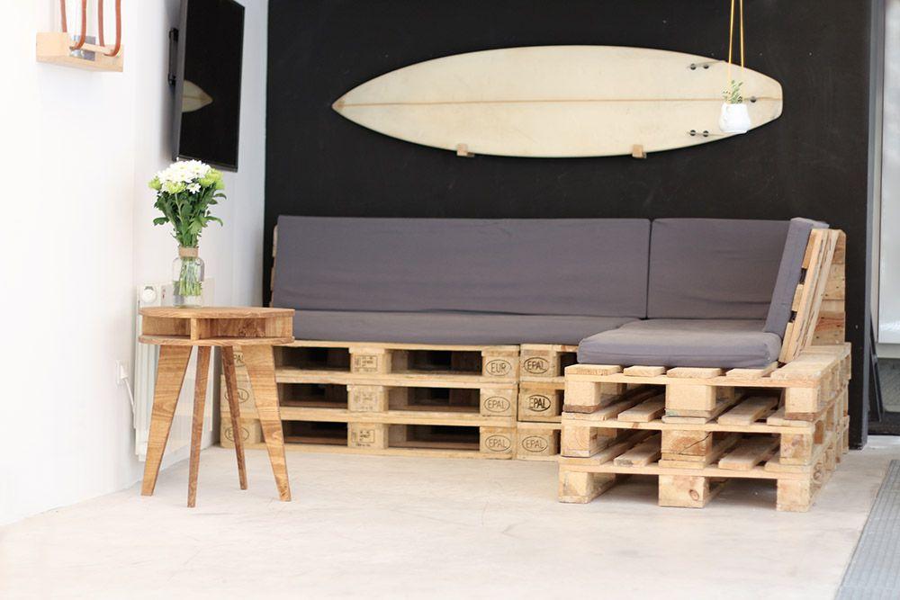 Tuto : un canapé d\'angle en palettes | Bricolage et DIY ...
