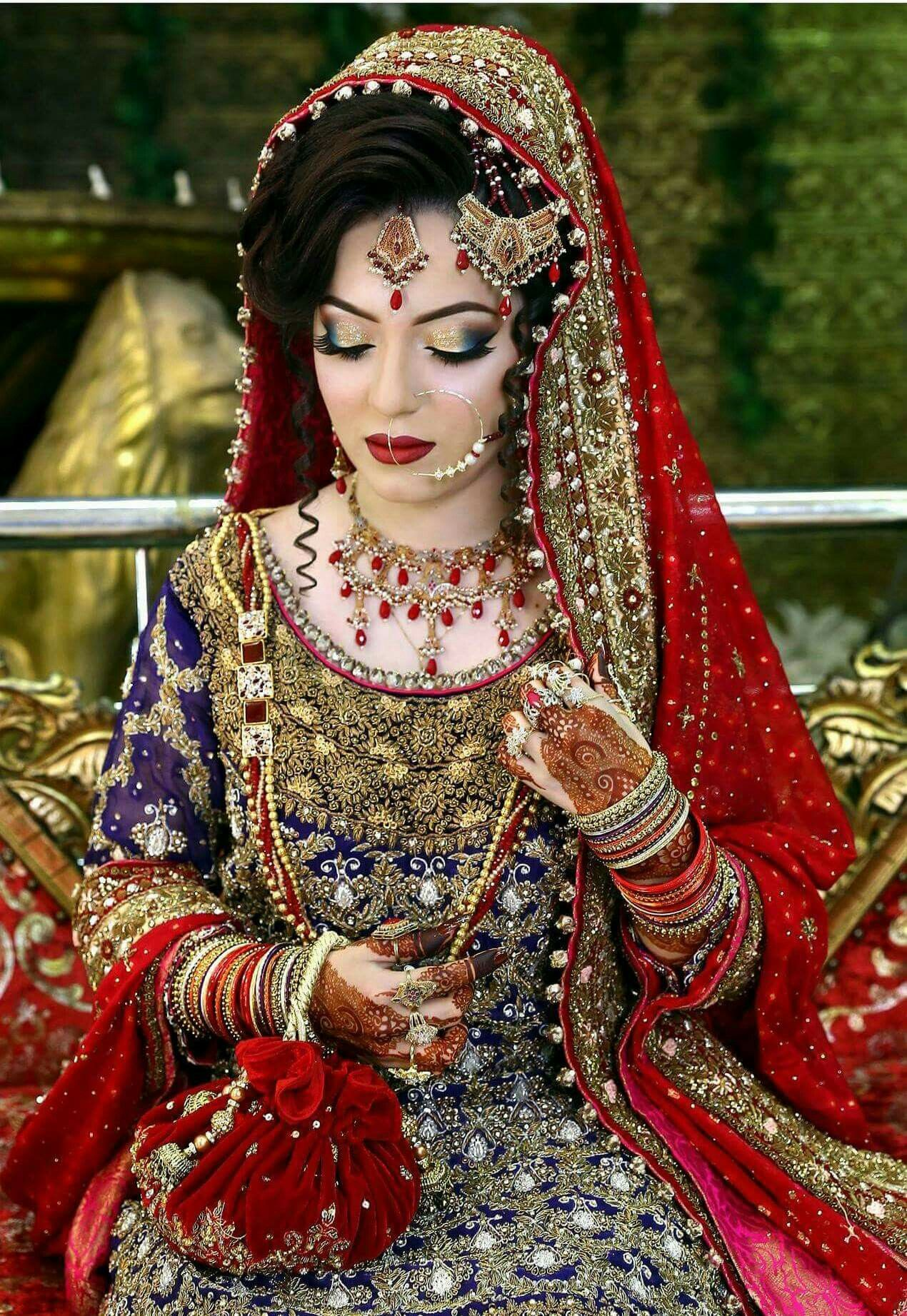 beautiful make up by Pakistani artist kashee Pakistani
