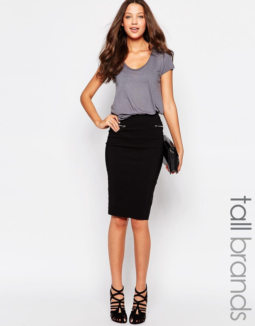 1e2b06d131 New Look Tall Zip Detail Pencil Skirt   Tall Clothing   Clothing for ...