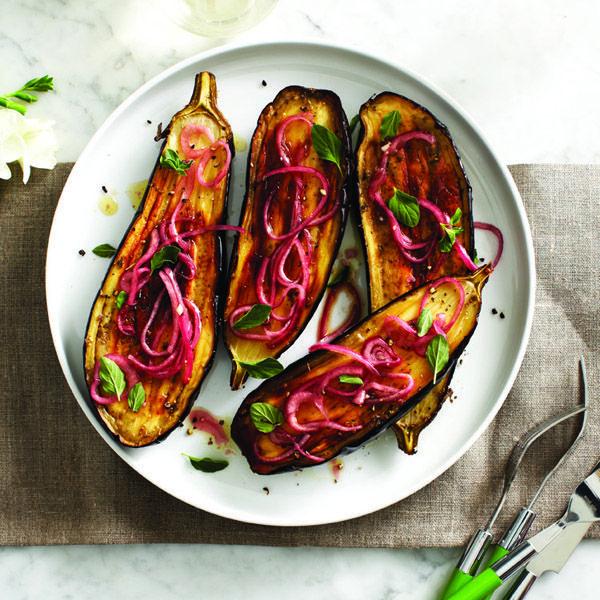 Baby eggplant with oregano & red onion recipe Chatelaine