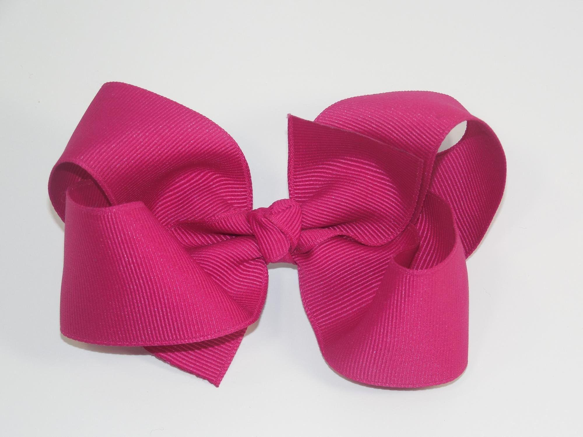 Ha hair bow ribbon wholesale - How To Make A Big Girl Boutique Hair Bow